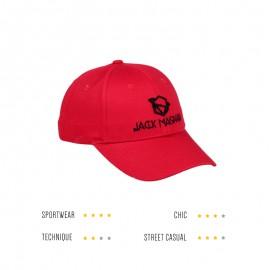 casquette rouge vermillon