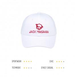 casquette blanche et rouge